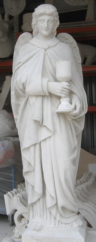 Restitution de l'ange d'après un moulage réalisé sur les vestiges