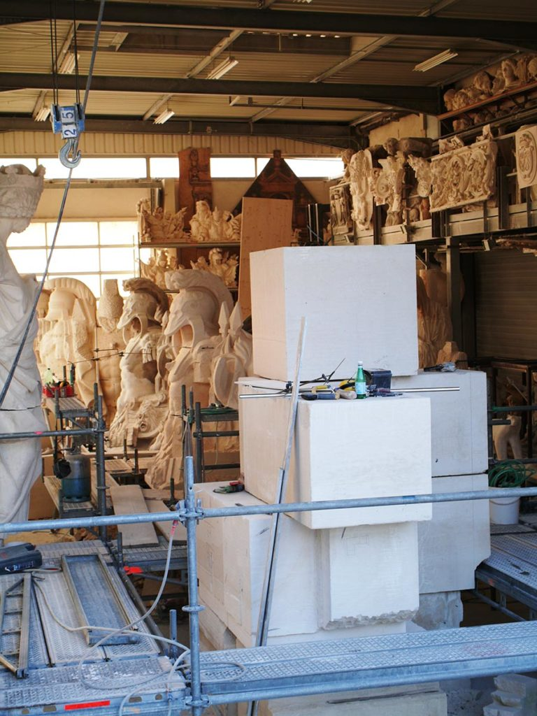 Installation des blocs appareillés en nos ateliers
