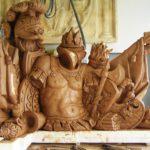 Maquette au tiers modelé en terre d'argile pour la confection d'un moule à creux perdu