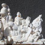 Maquette en plâtre au tiers