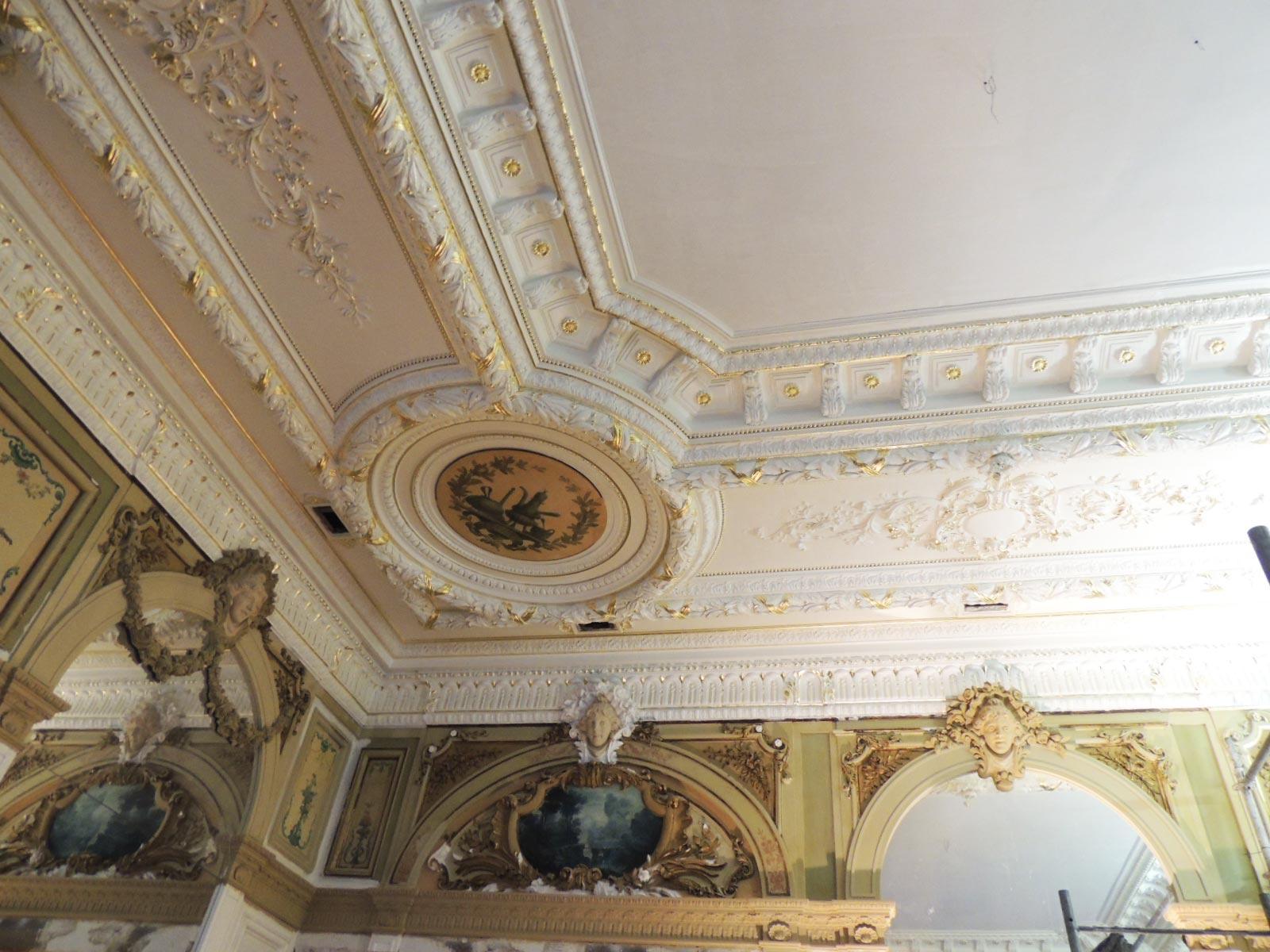 Plafond après restauration
