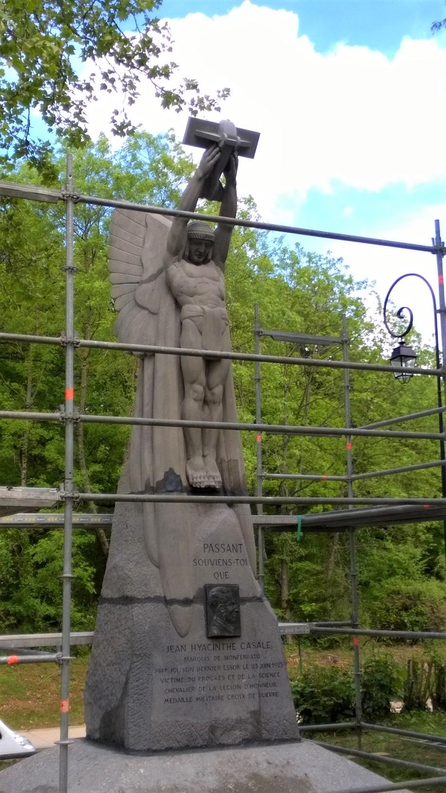 Statue après restauration