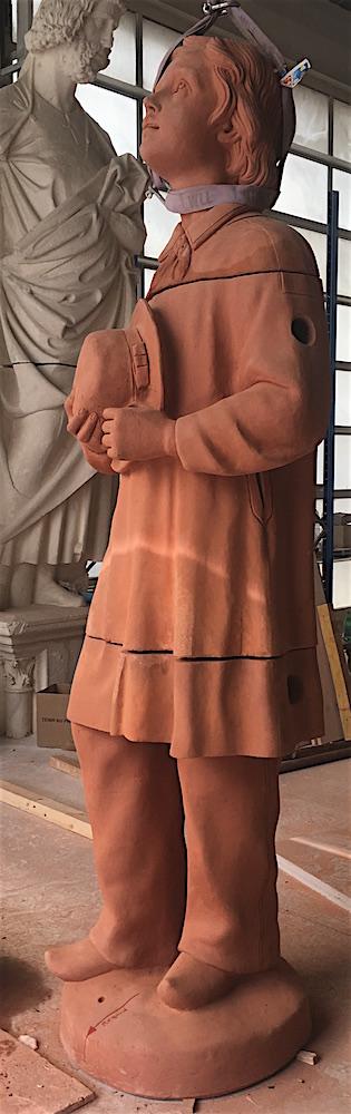 Assemblage statue terre cuite