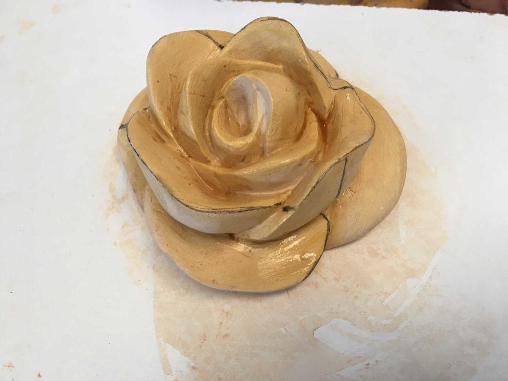 Réalisation du modèle de la rose