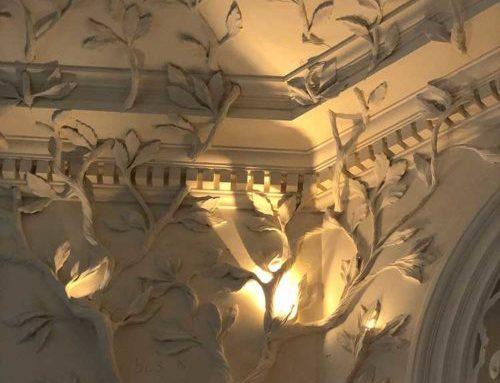 Décors végétaux réalisés en plâtre à Londres
